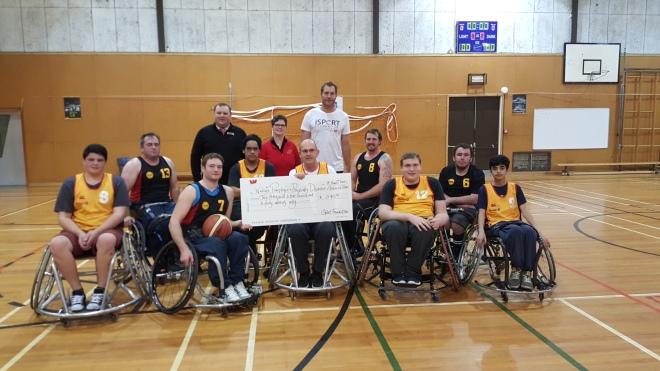 Ali Williams with Parafed Waikato Wheelchair Basketball Development team